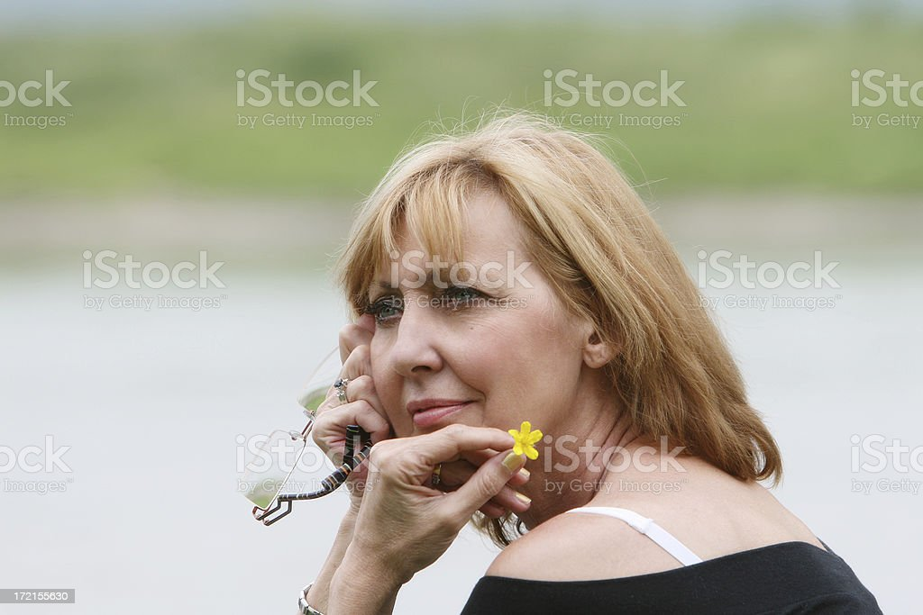 Does he love me? royalty-free stock photo