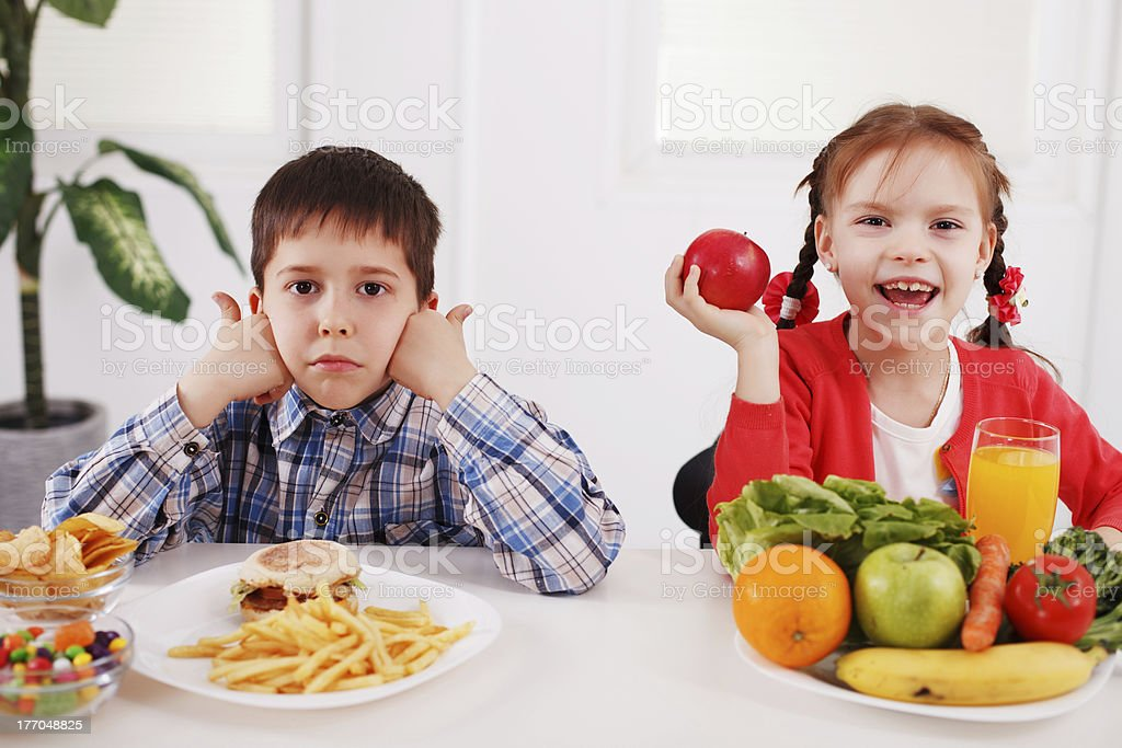 Does junk food makes your child sad royalty-free stock photo