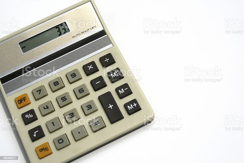 Does Not Compute: Vintage Calculator shows 33 royalty-free stock photo