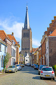Doesburg city in Gelderland, Netherlands during a beautiful spring day in the ancient Hanseatic League town.