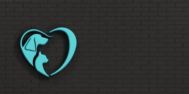 Dog and cat heart logo wall design 3d render illustration picture id942016348?b=1&k=6&m=942016348&s=612x612&w=0&h=mcfe9djtbtczeledpkcv pja2lqcud3gbtni05jvoye=