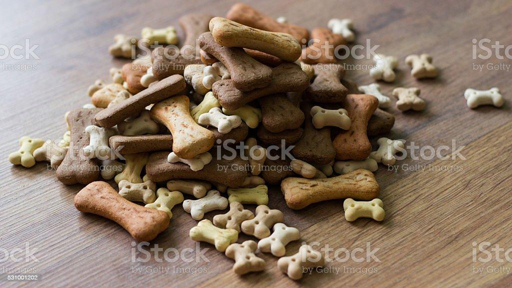 Dog biscuit bones stock photo