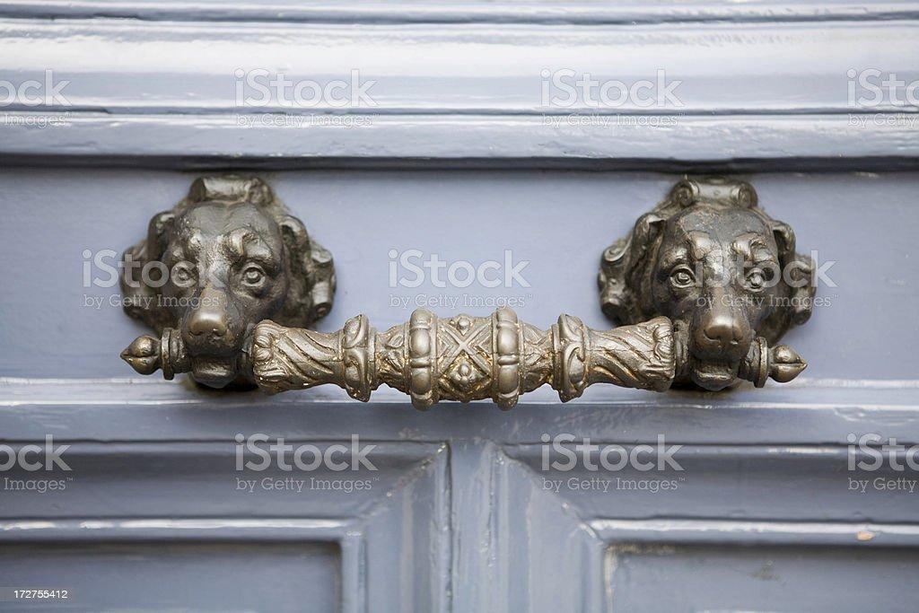 Dog door handle royalty-free stock photo