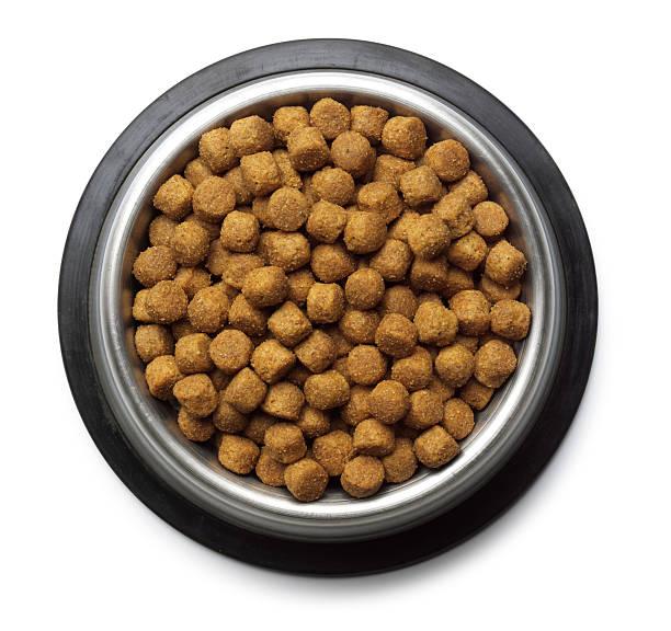 dog food - hundenapf stock-fotos und bilder
