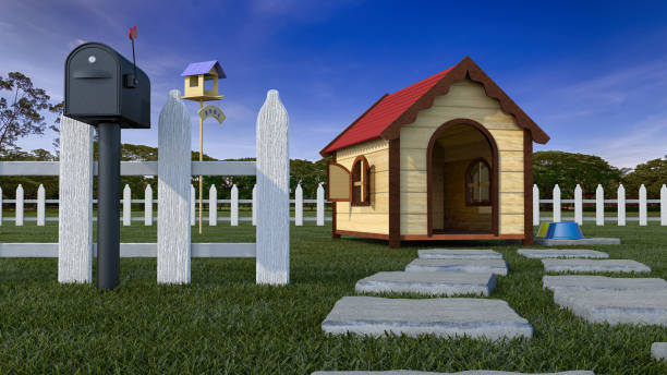 Dog house on lawn with fencing 3d illustration picture id910999044?b=1&k=6&m=910999044&s=612x612&w=0&h=pky0oyllogcmoa2j7l8oddgwjguqz6jfd23shmhw6bi=
