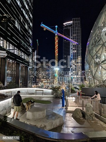 istock Dog Park at Amazon Headquarters 882685120