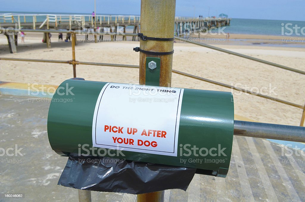 Dog poo bag dispenser royalty-free stock photo