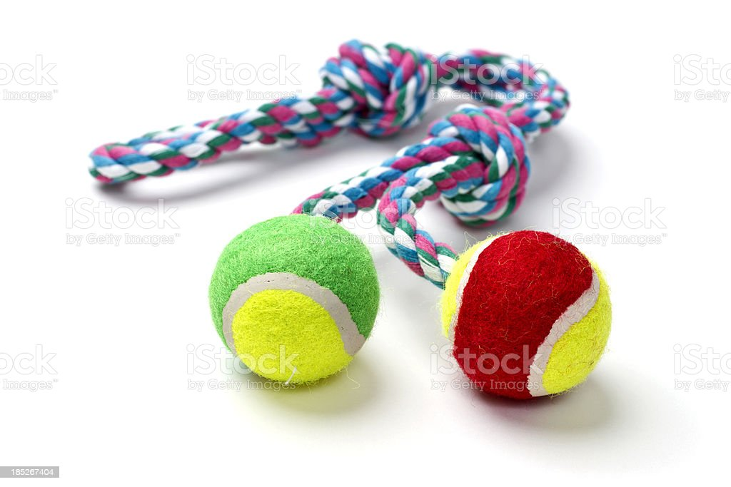 Dog Rope Ball Pull Toy stock photo
