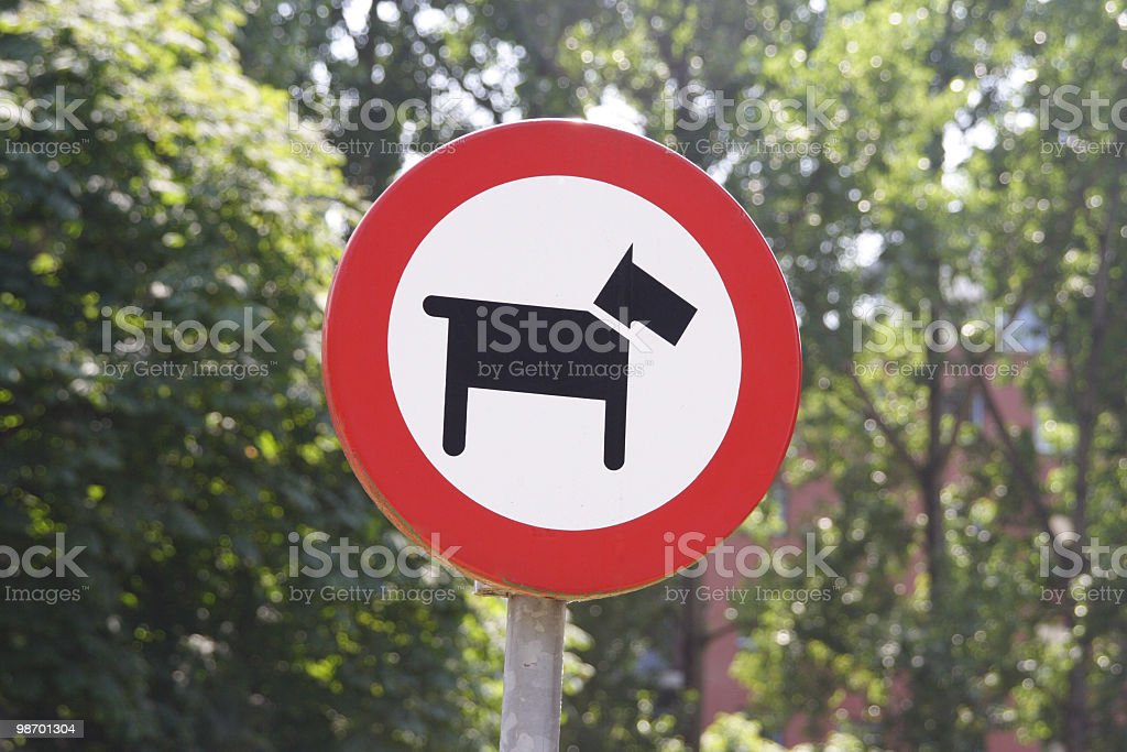 Dog sign royalty-free stock photo