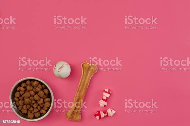 Dog snacks dog chews dog bone ball toy for dog on a pink background picture id877503946?b=1&k=6&m=877503946&s=612x612&h=bksr5dhx1nyujyrakh6jogimy0lz5ouj0bcdfzotbim=