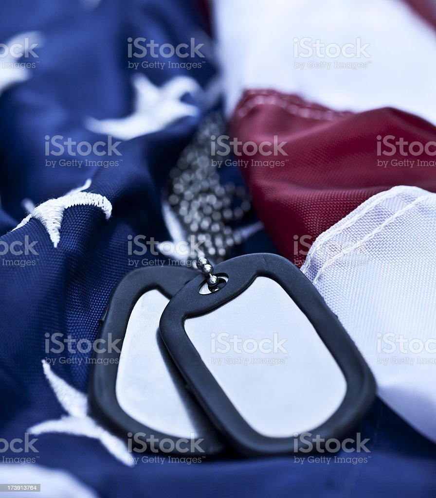 US Dog Tags royalty-free stock photo