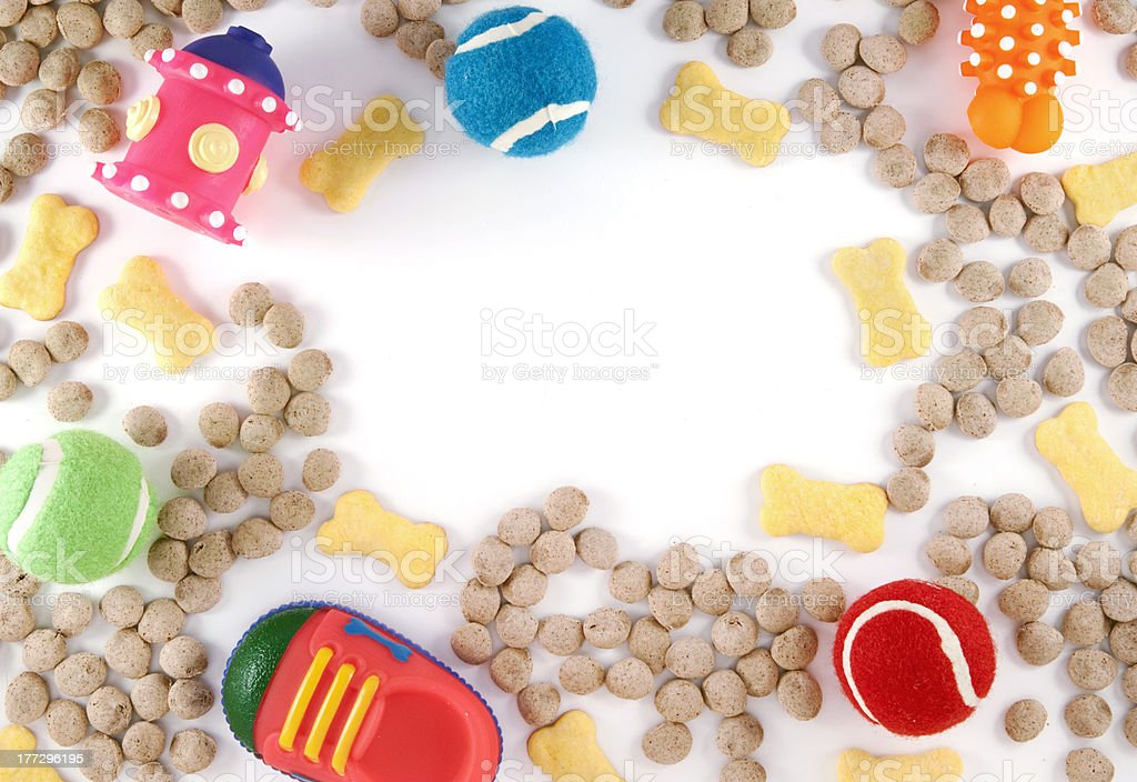 Dog Toys and Food stock photo