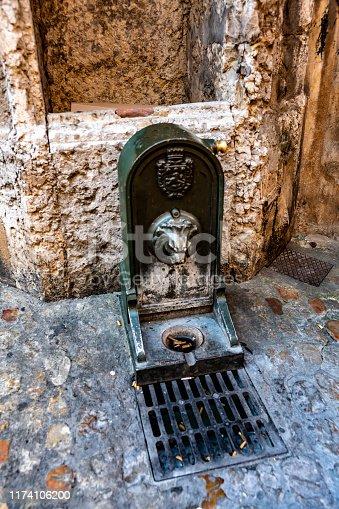 Dog trough water fountain in Lyon, France