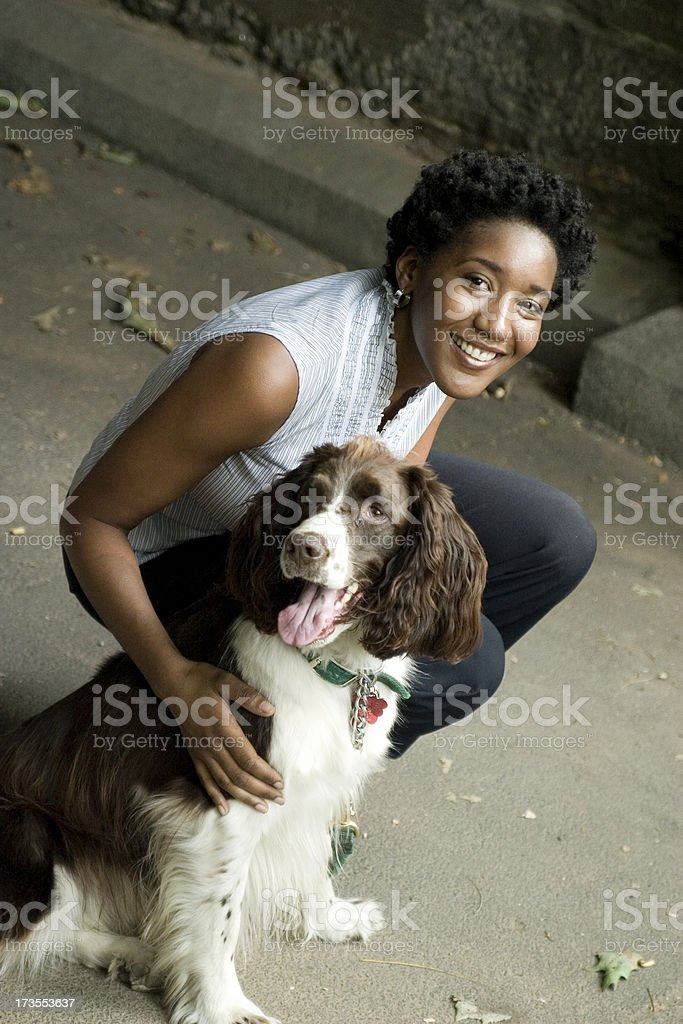 Dog Walking royalty-free stock photo