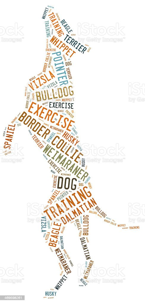 dog word cloud royalty-free stock photo