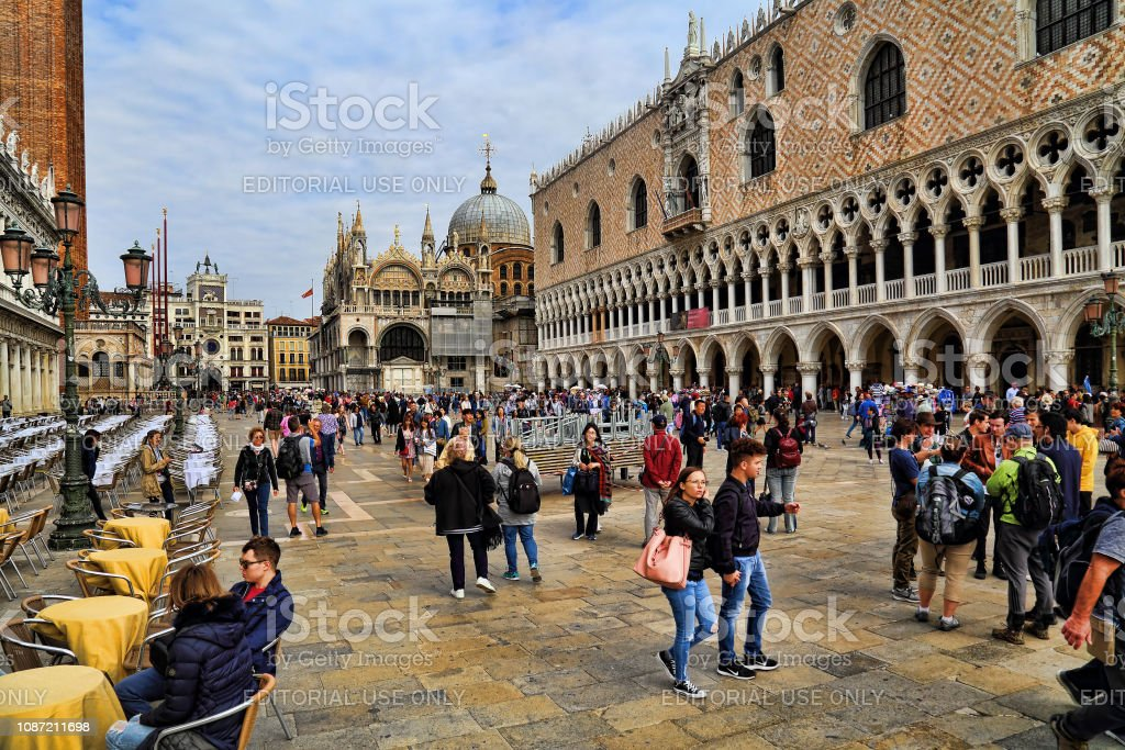 Doge Palace of San Marco in Venice, Italy stock photo