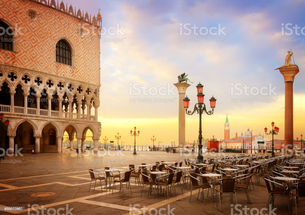 Doge palace, Venice, Italy stock photo