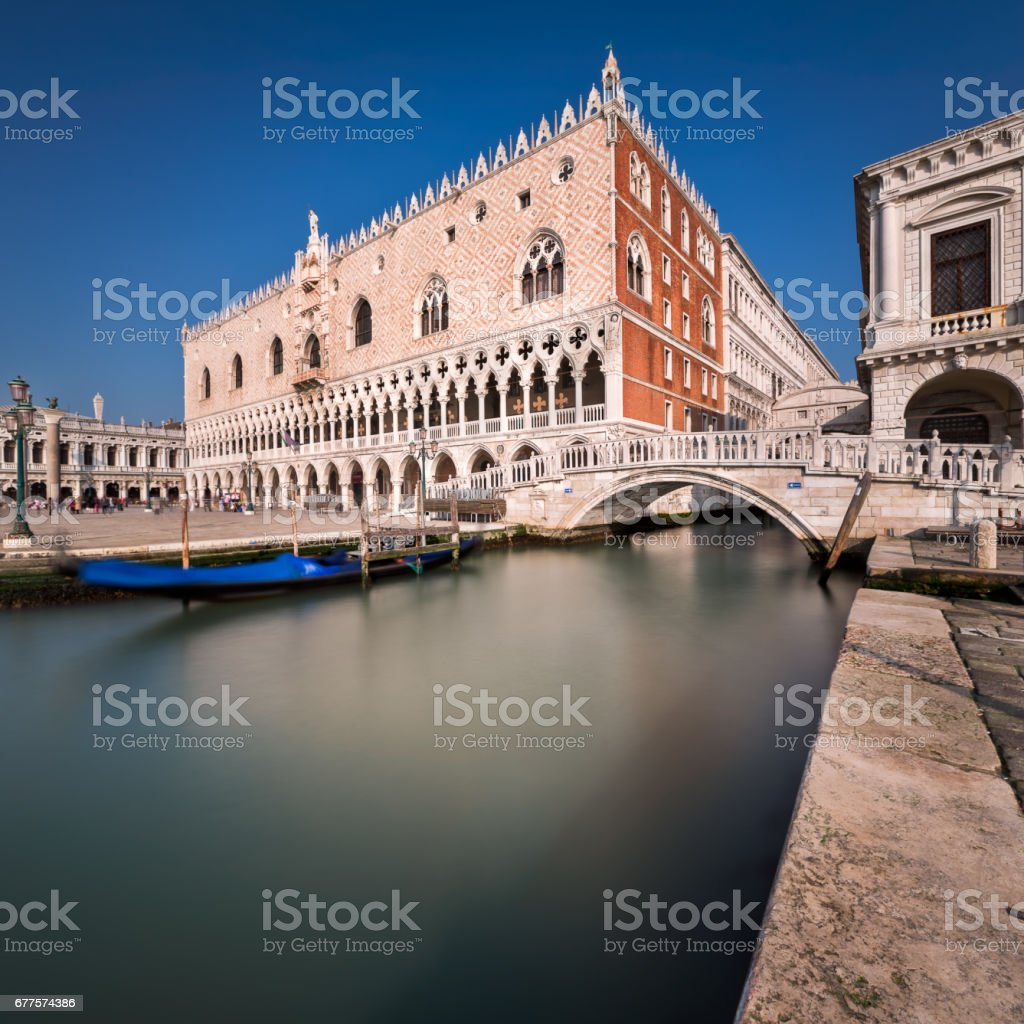 Doge's Palace and Bridge of Sighes in Venice, Italy royalty-free stock photo