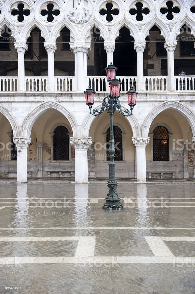 Doge's Palace at Piazza San Marco in Venice, Italy royalty-free stock photo