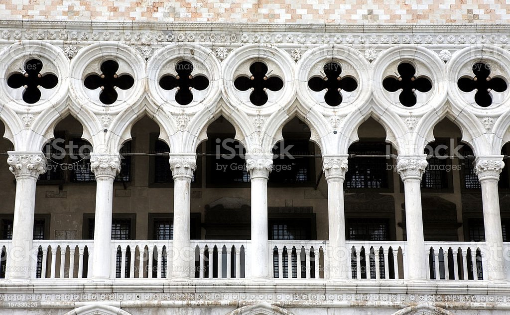 Doges Palace Detail Venice Italy stock photo