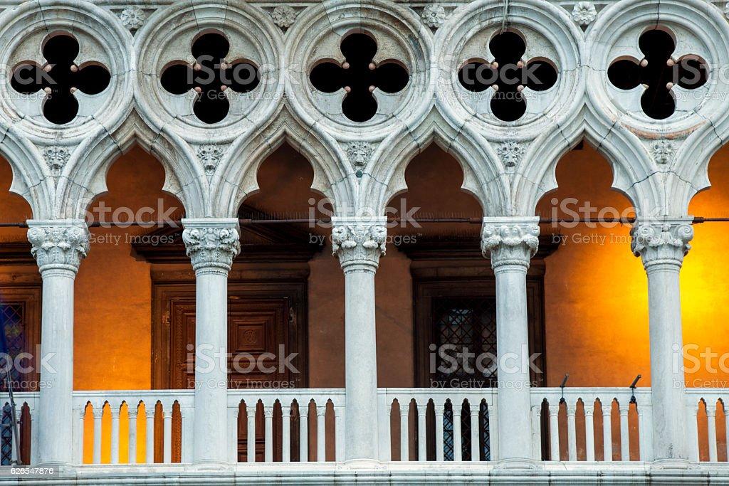 Doges Palace Illuminated stock photo