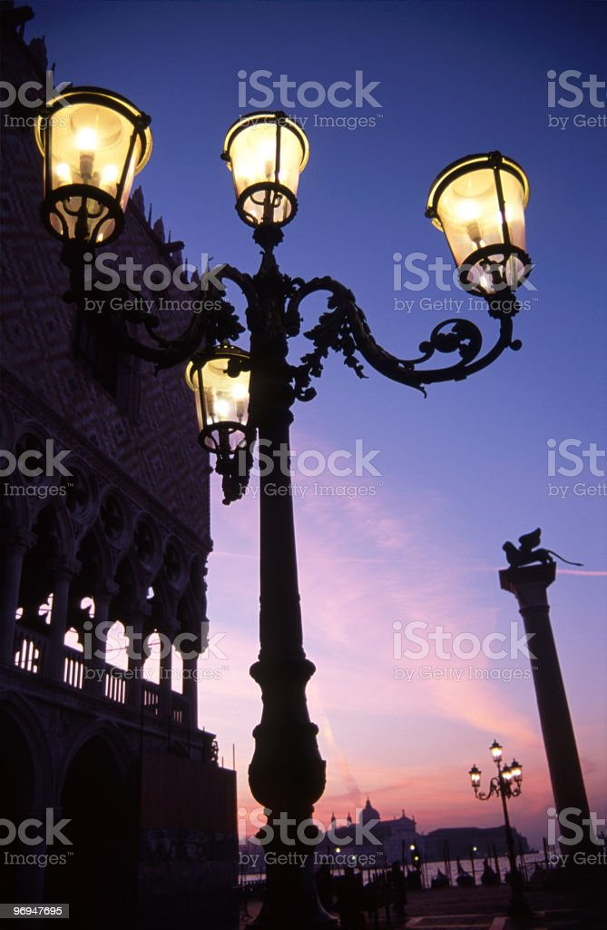 Doge's Palace, Piazzetta San Marco, Venice, Italy royalty-free stock photo