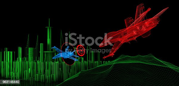 istock Dogfight in The Future 963146440