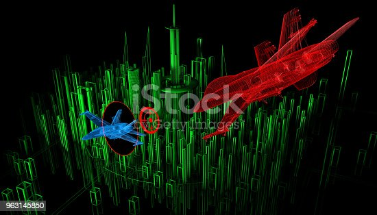 istock Dogfight on The City 963145850