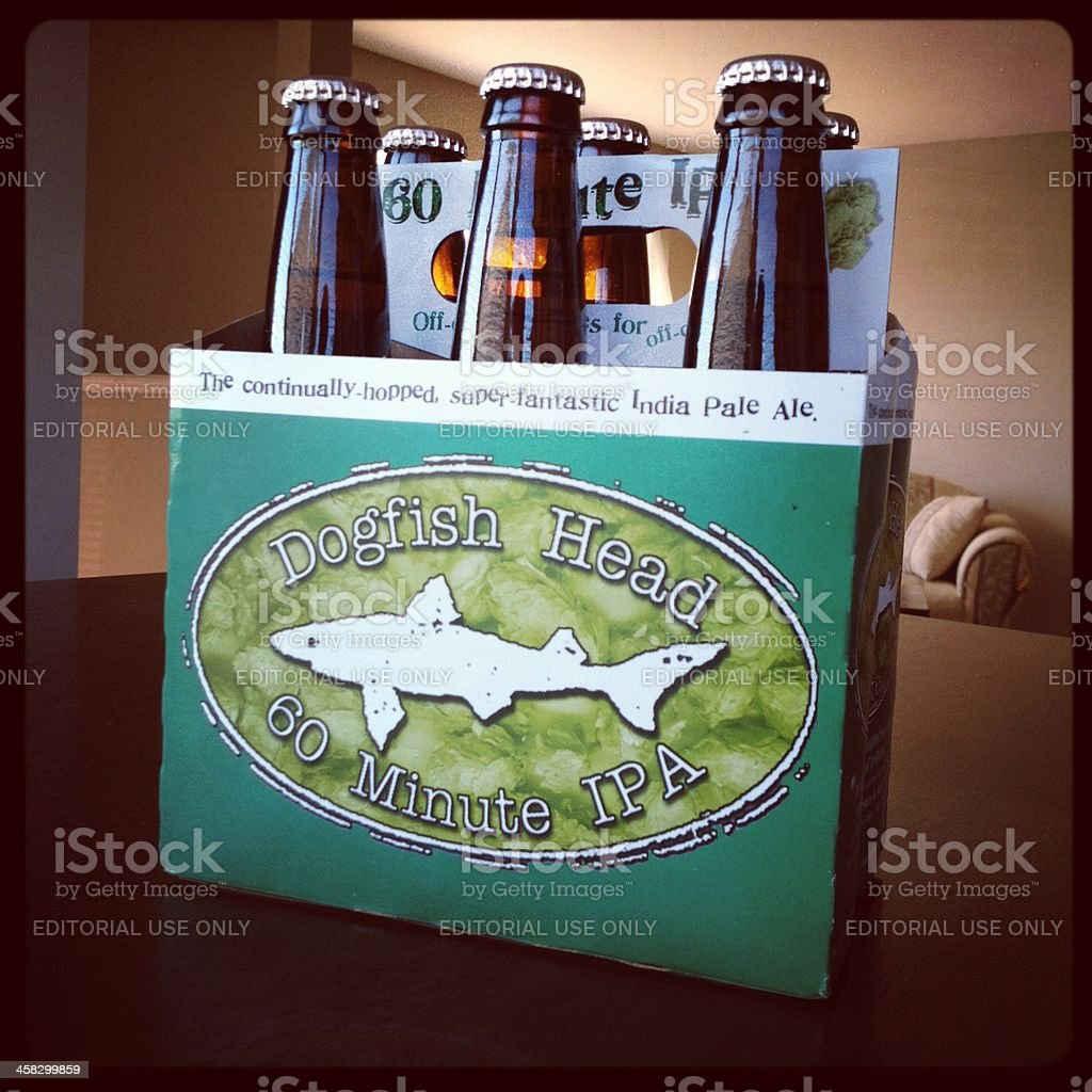 Dogfish Head 60 Minute IPA Beer stock photo