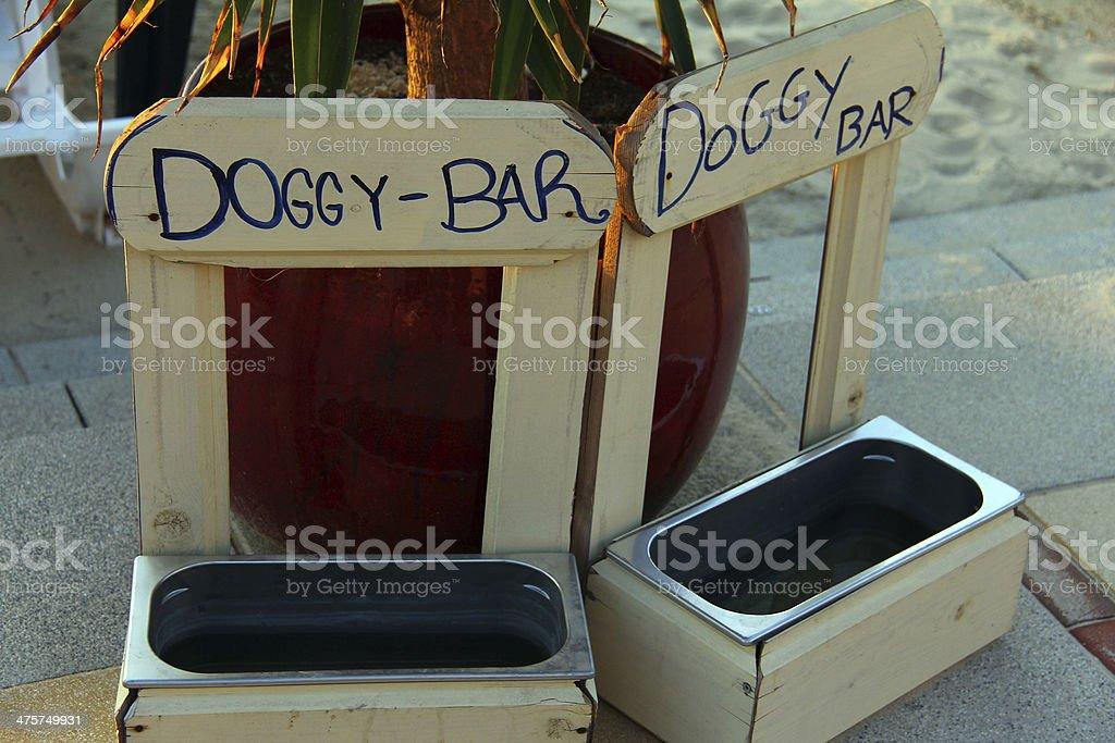 Doggy bar stock photo