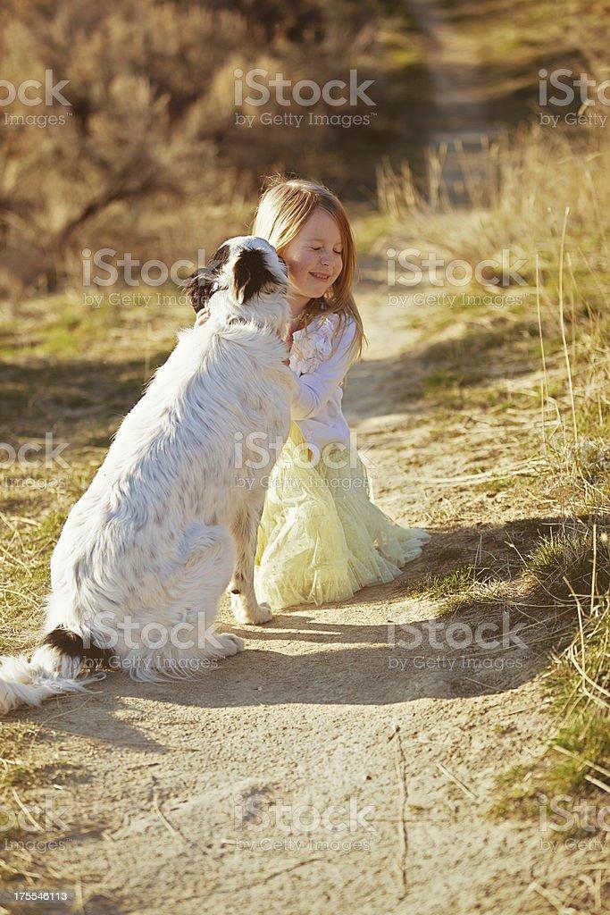 Doggy kisses royalty-free stock photo