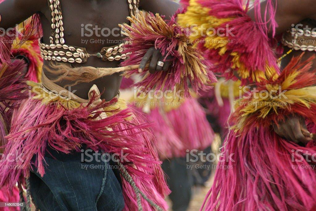 Dogon Mask Dance in Mali stock photo
