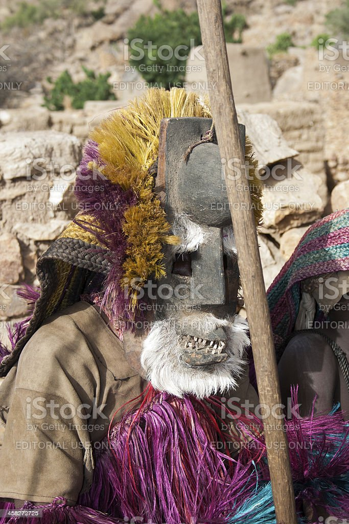 Dogon mask, Mali, Africa. stock photo