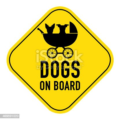 istock dogs on board sign 469591020