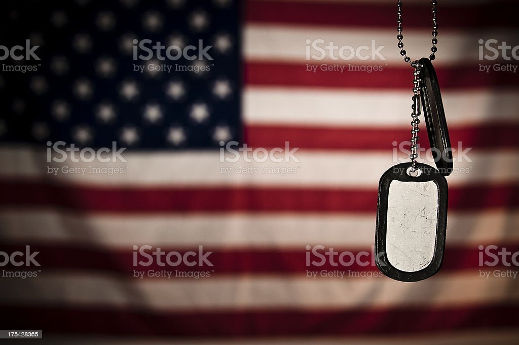 Dogtags stock photo