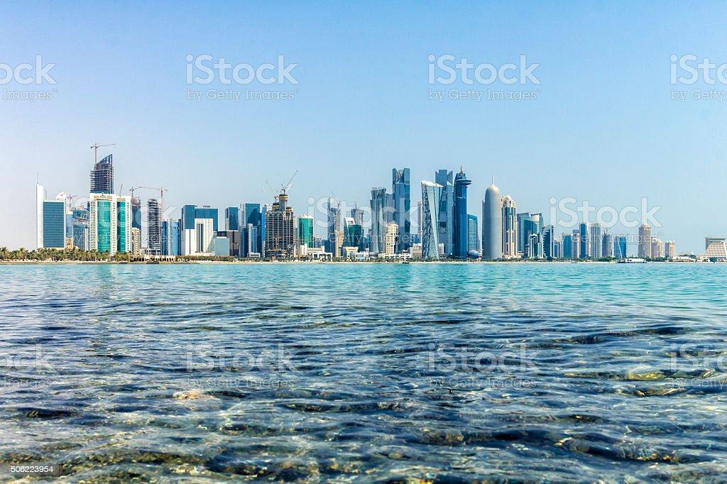 Doha Business District Skyline stock photo