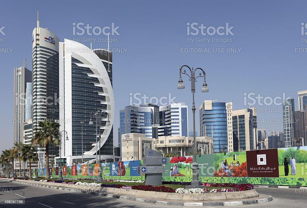 Doha Downtown Al Dafna royalty-free stock photo