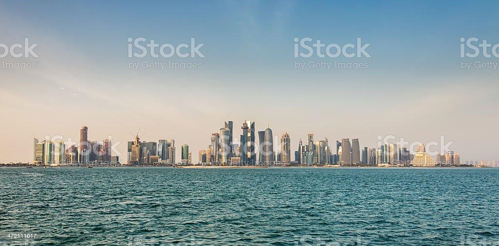 Doha Panorama Skyline, Qatar stock photo