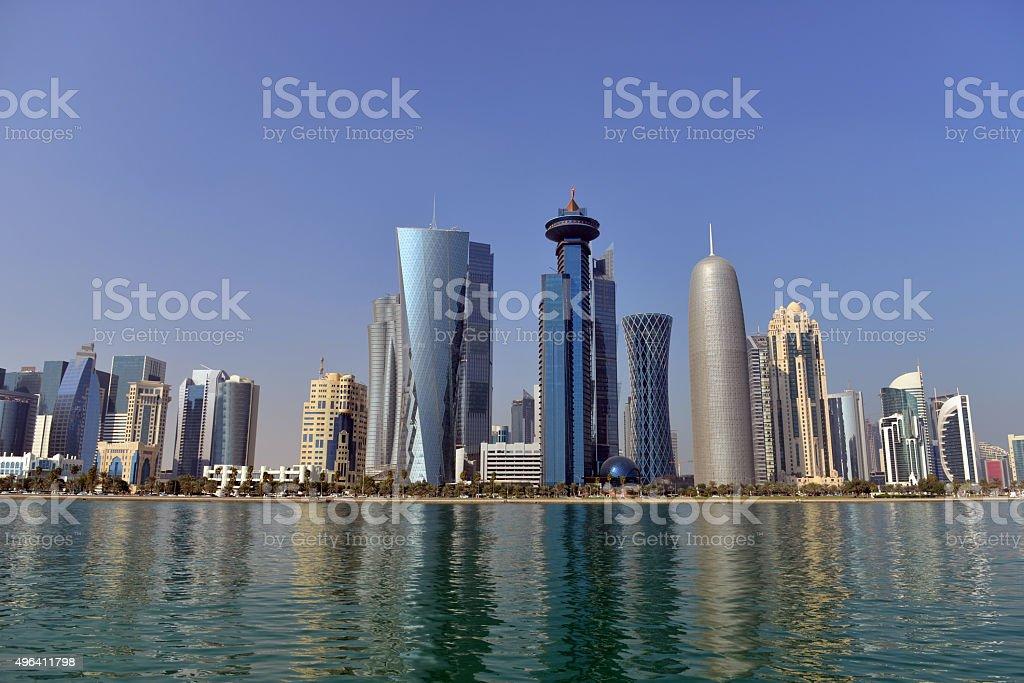 Doha skyline - Doha - Qatar stock photo