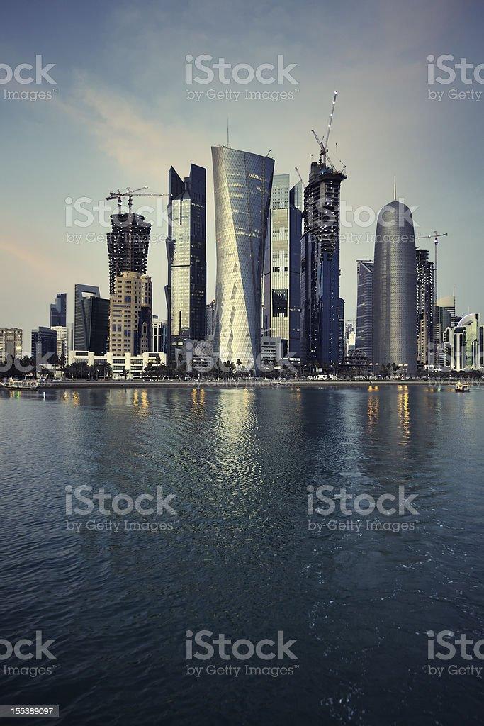 Doha skyscrapers stock photo
