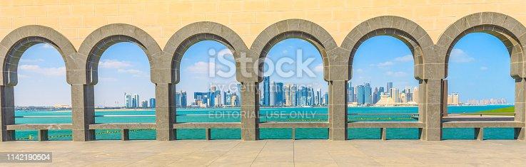 istock Doha West Bay panorama 1142190504