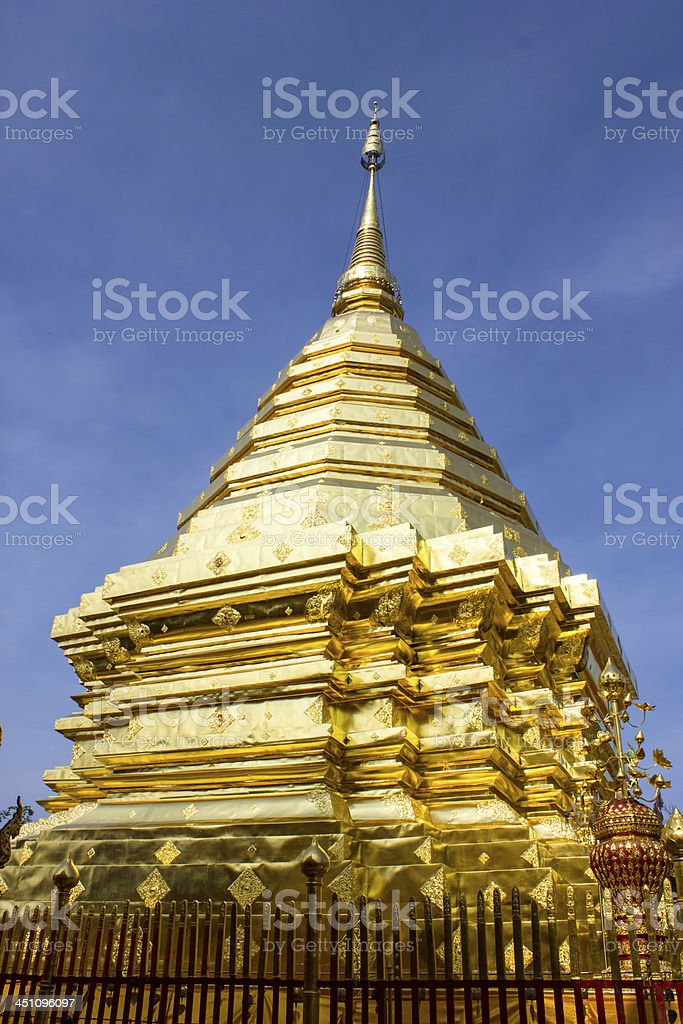 Doi suthep temple in chaing mai thailand royalty-free stock photo