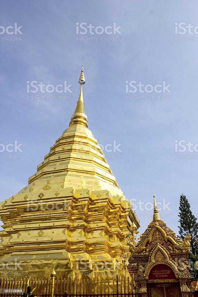 Doi suthep temple in chaing mai thailand royalty-free stock photo