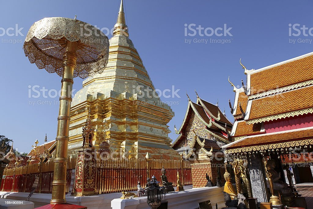 Doi Suthep Temple in Chiang Mai, Thailand. stock photo