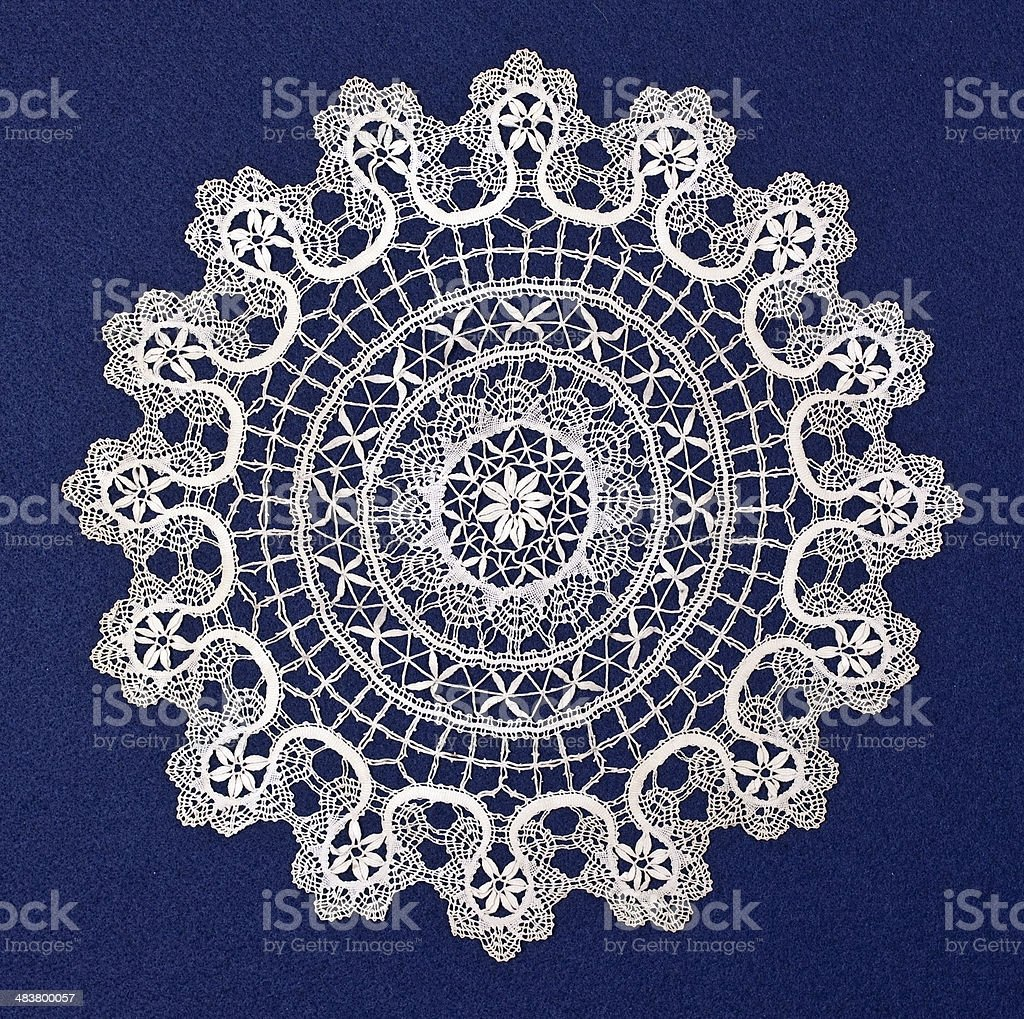 Doily duodecies stock photo
