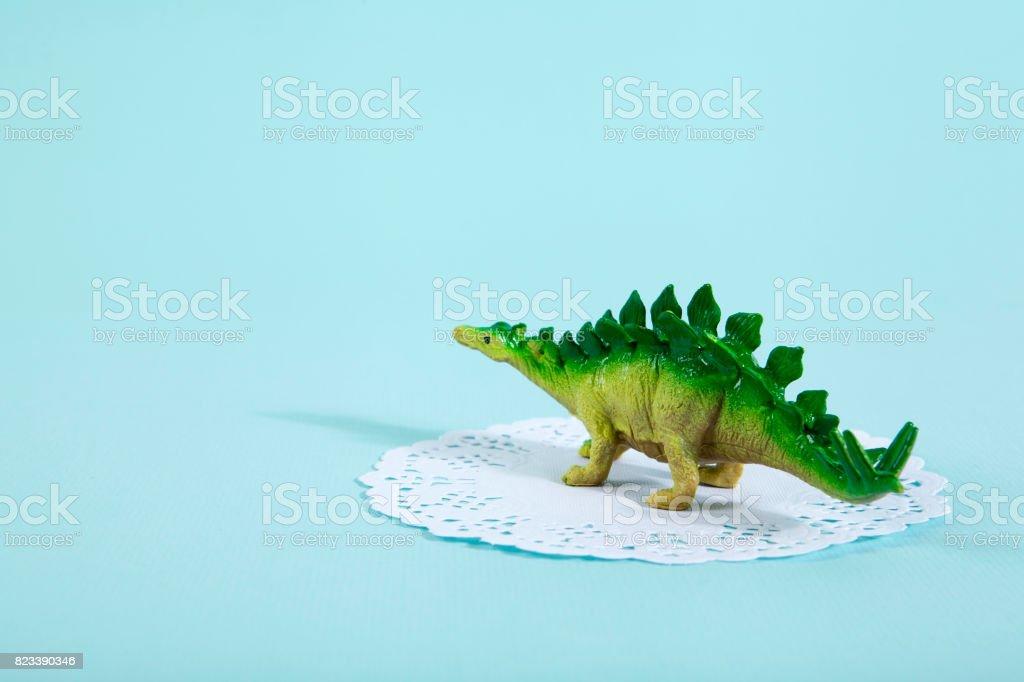 doily stegosaurus stock photo