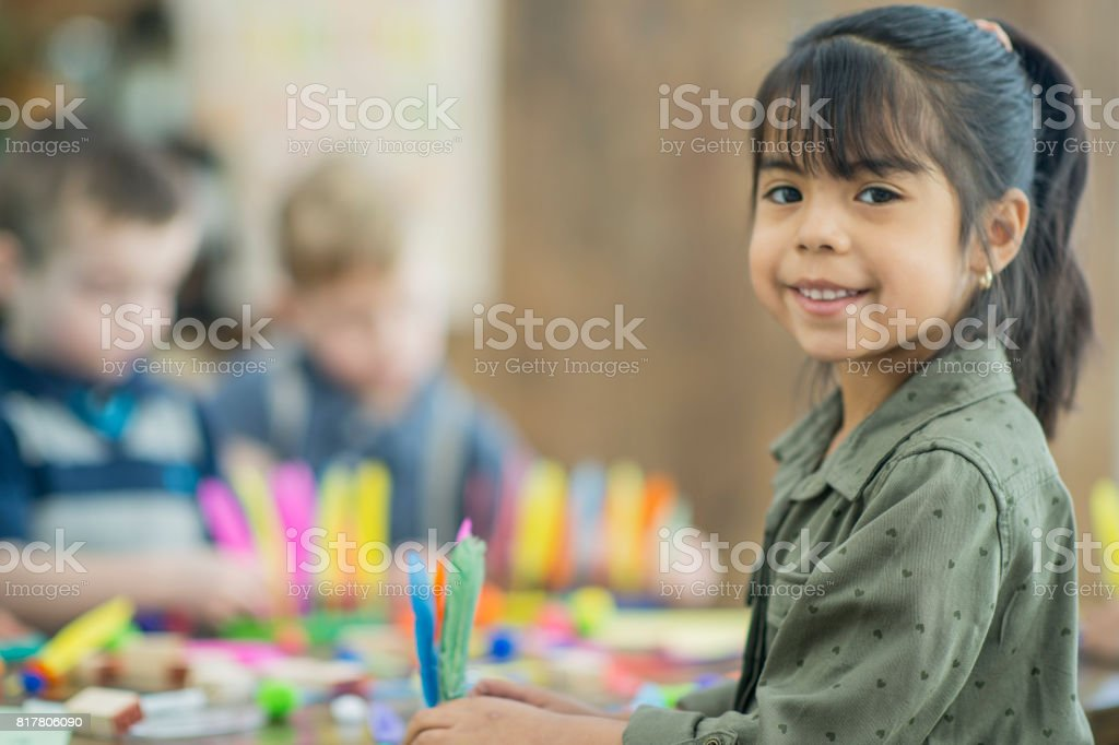 Doing A Craft stock photo