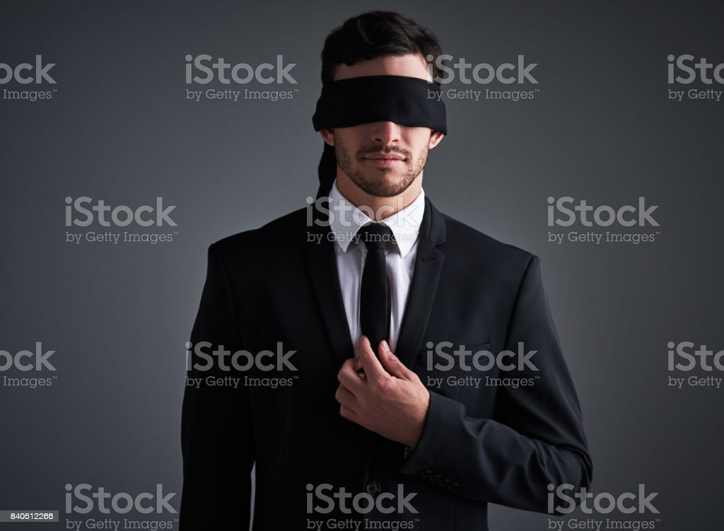 Doing business in the dark stock photo