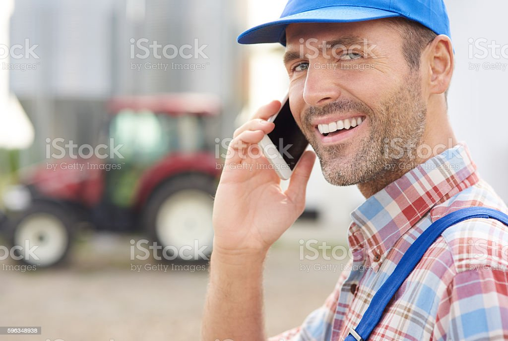 Doing business on the farm royalty-free stock photo