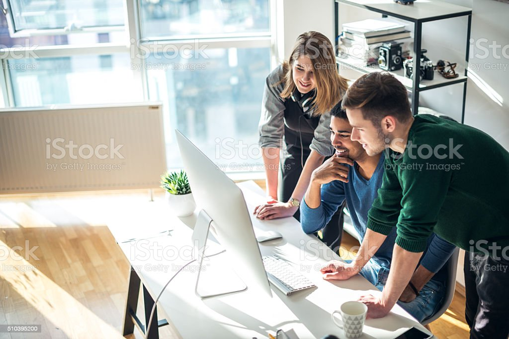 Doing business together stock photo